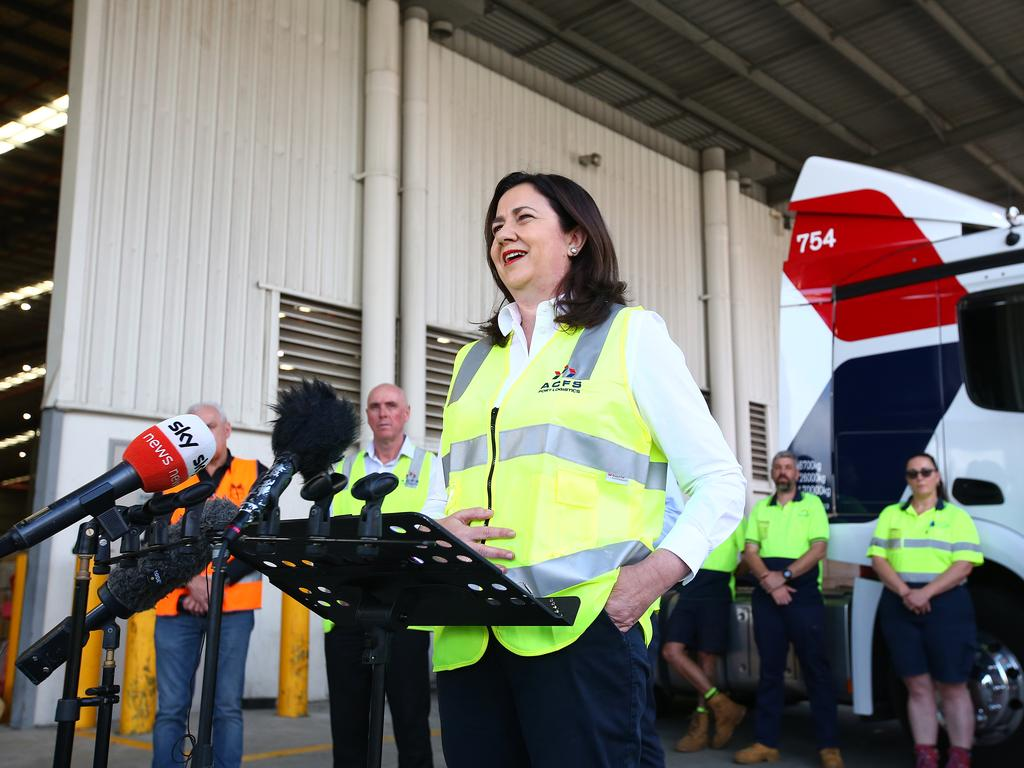 Premier Annastacia Palaszczuk's dominance on the critical question of the economy extends to every region across the state. (Photo by Jono Searle/Getty Images)