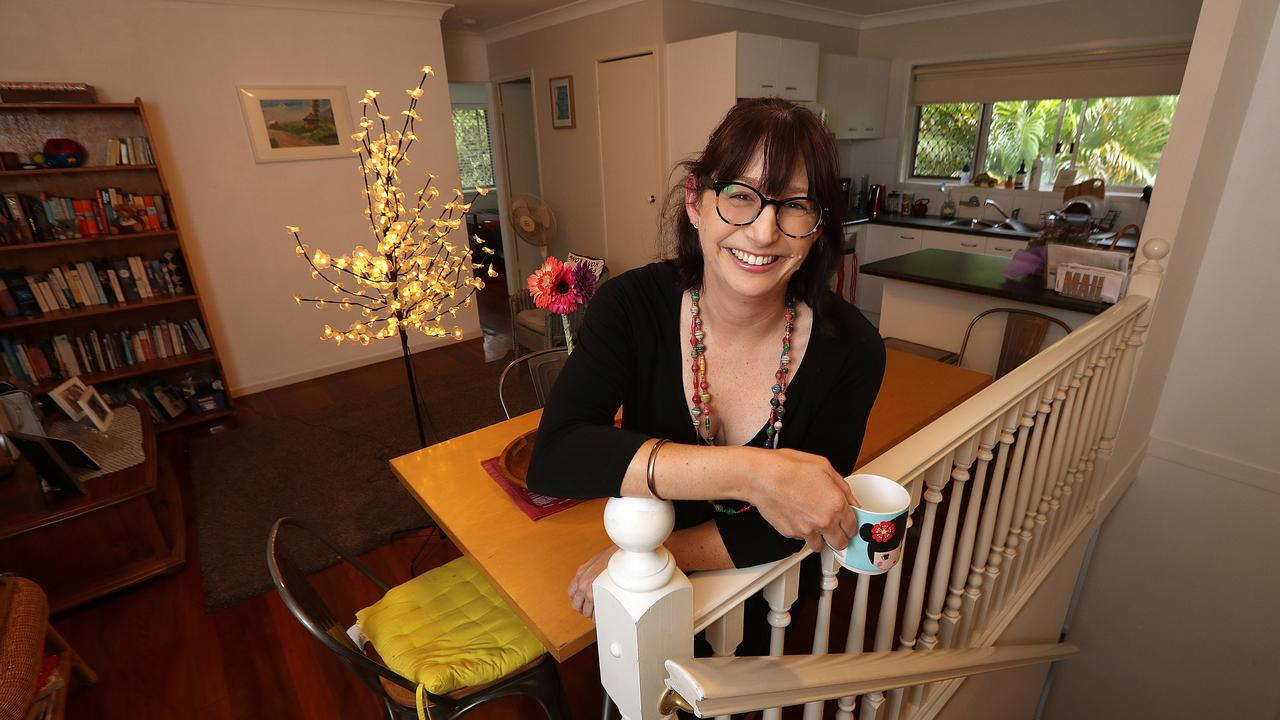 Brooke Thomas, 37, was one of the first applicants tobe approved for the First Home Loan Deposit Scheme. Photo: Lyndon Mechielsen