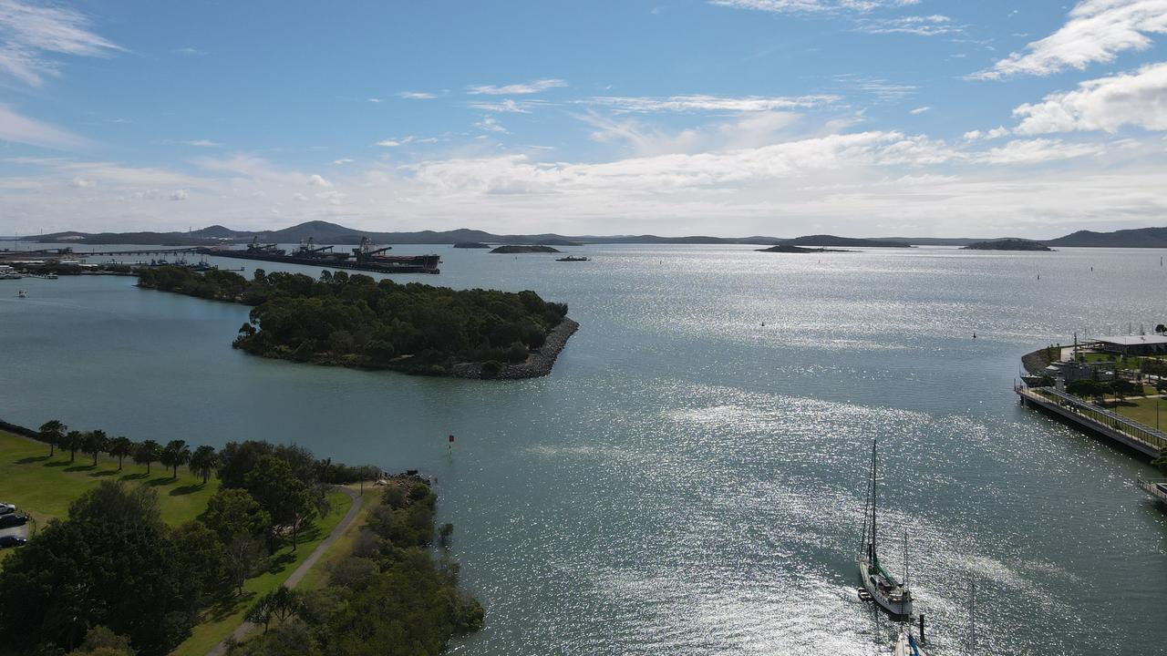 Gladstone Harbour taken by a DJI Mavic Air 2 drone.
