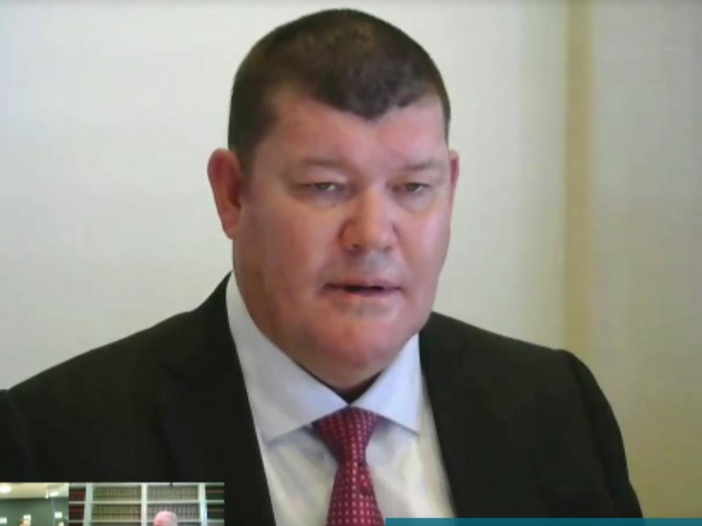 Packer giving evidence on videolink.