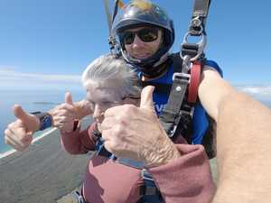 90-year-old takes a plunge in breathtaking skydive adventure