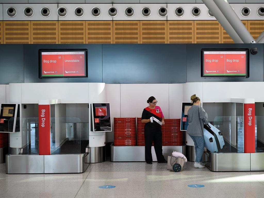 QANTAS terminals have remained largely empty during the COVID pandemic. Picture: NCA NewsWire/Joel Carrett