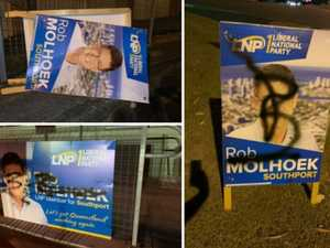 'Pure vandalism': Thieves enter yard to steal campaign signs