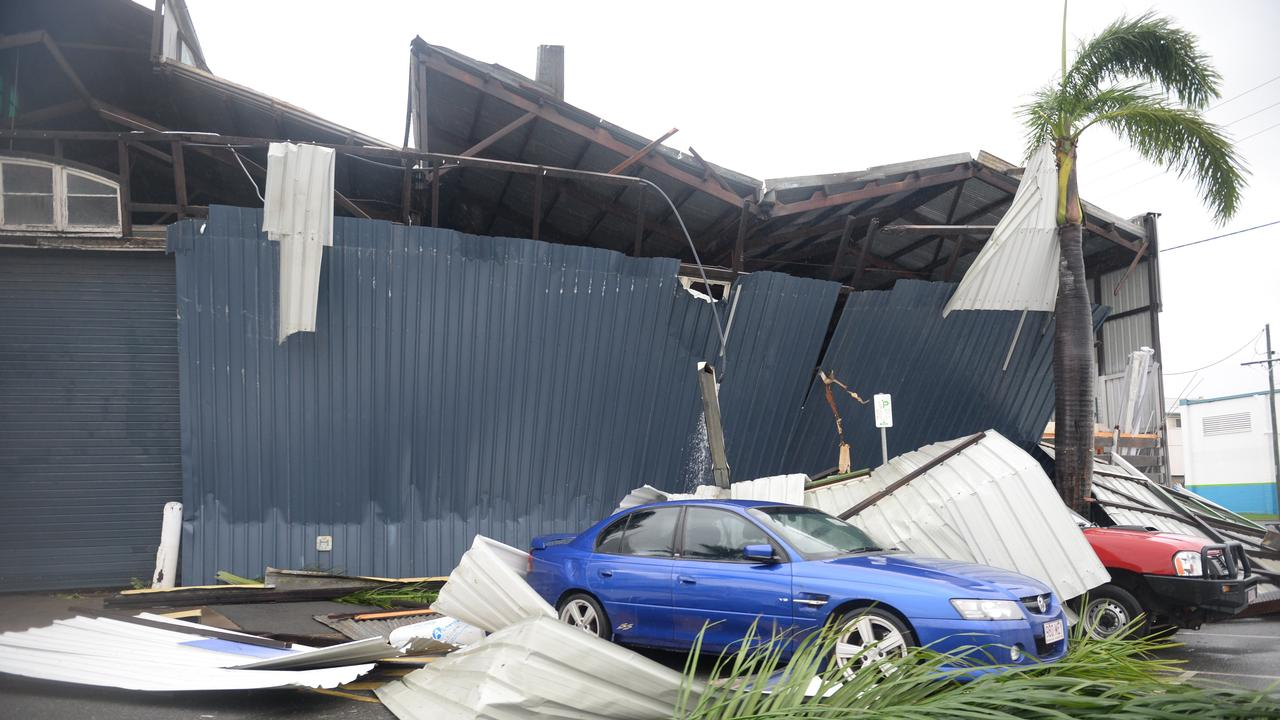 Damage in the Rockhampton CBD area caused by Tropical Cyclone Marcia. Photo Allan Reinikka / The Morning Bulletin