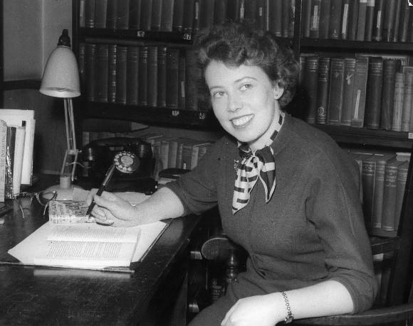 Barbara at the Bodley Head 1956.