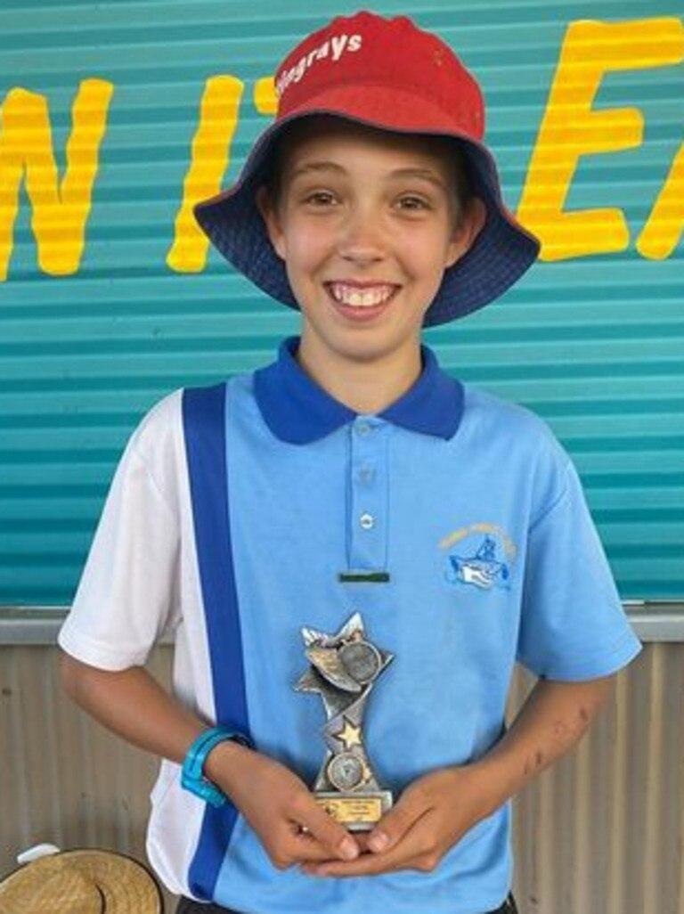 Yamba Public School athletics carnival 11 years boy age champion Josh Carige