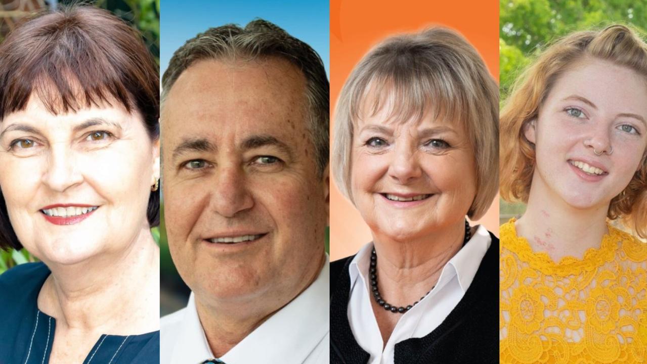 Mackay MP Julieanne Gilbert, Chris Bonanno (LNP), Christine Keys (ONP) and Imogen Lindenberg (Greens).
