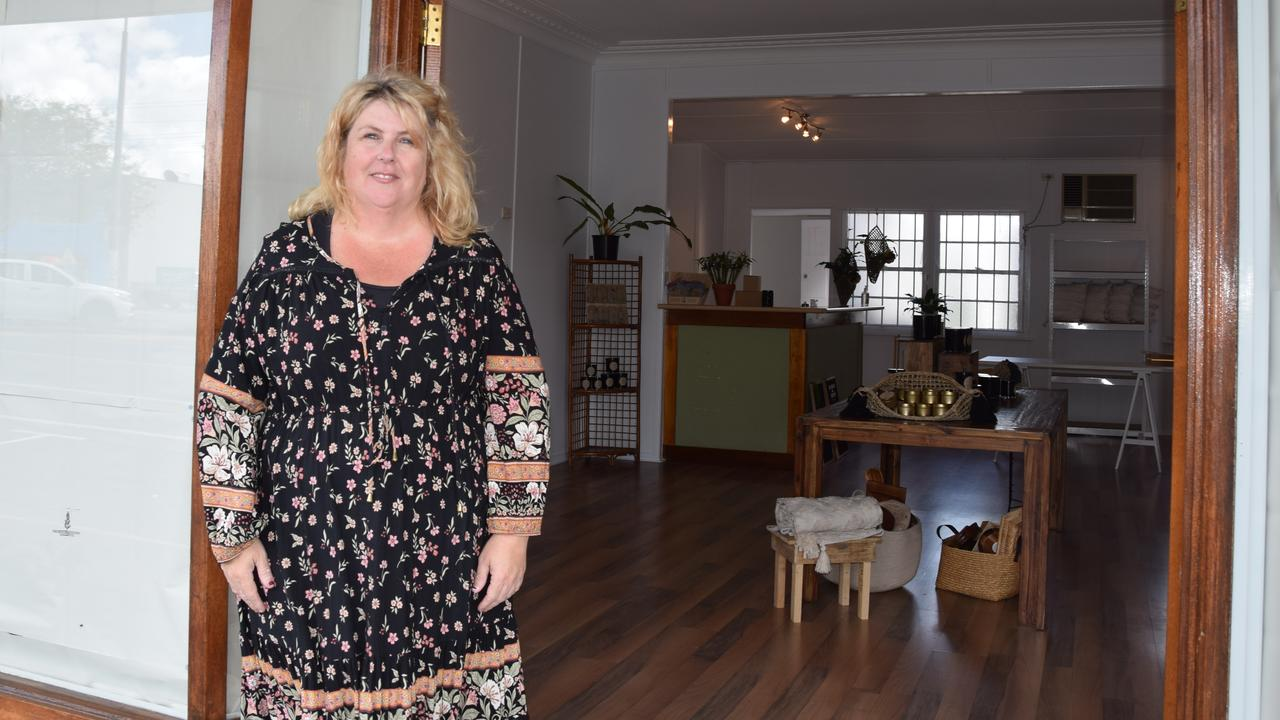 Nicole O'Donnell at her new store on Wandal Rd, which will be The Drifter and Gypsy Collective.