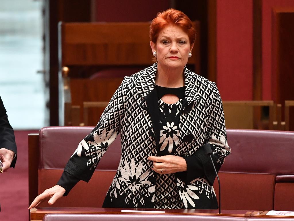 One Nation leader Senator Pauline Hanson. Picture: AAP Image/Mick Tsikas