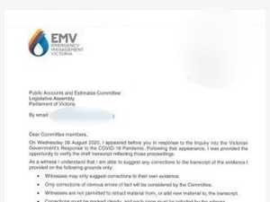 Bombshell letter sent to hotel inquiry