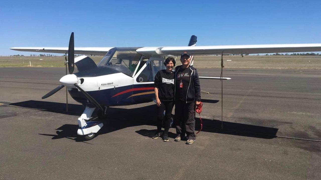 Jane and Wayne Dillon with their Tecnam Bravo aircraft
