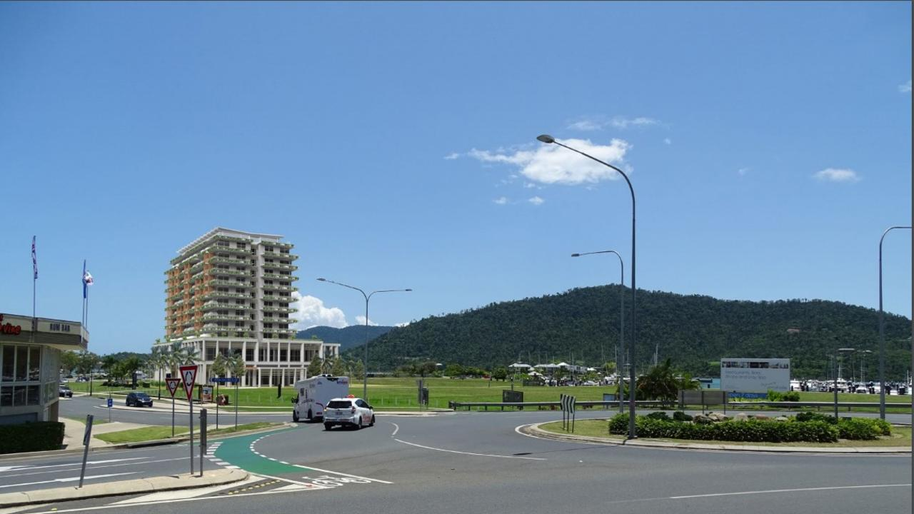 An impression of the proposed hotel from Airlie Beach.