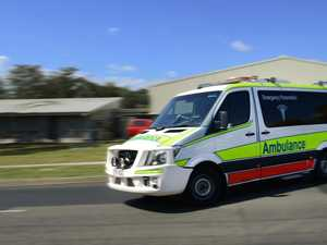 Woman taken to hospital with chest injuries