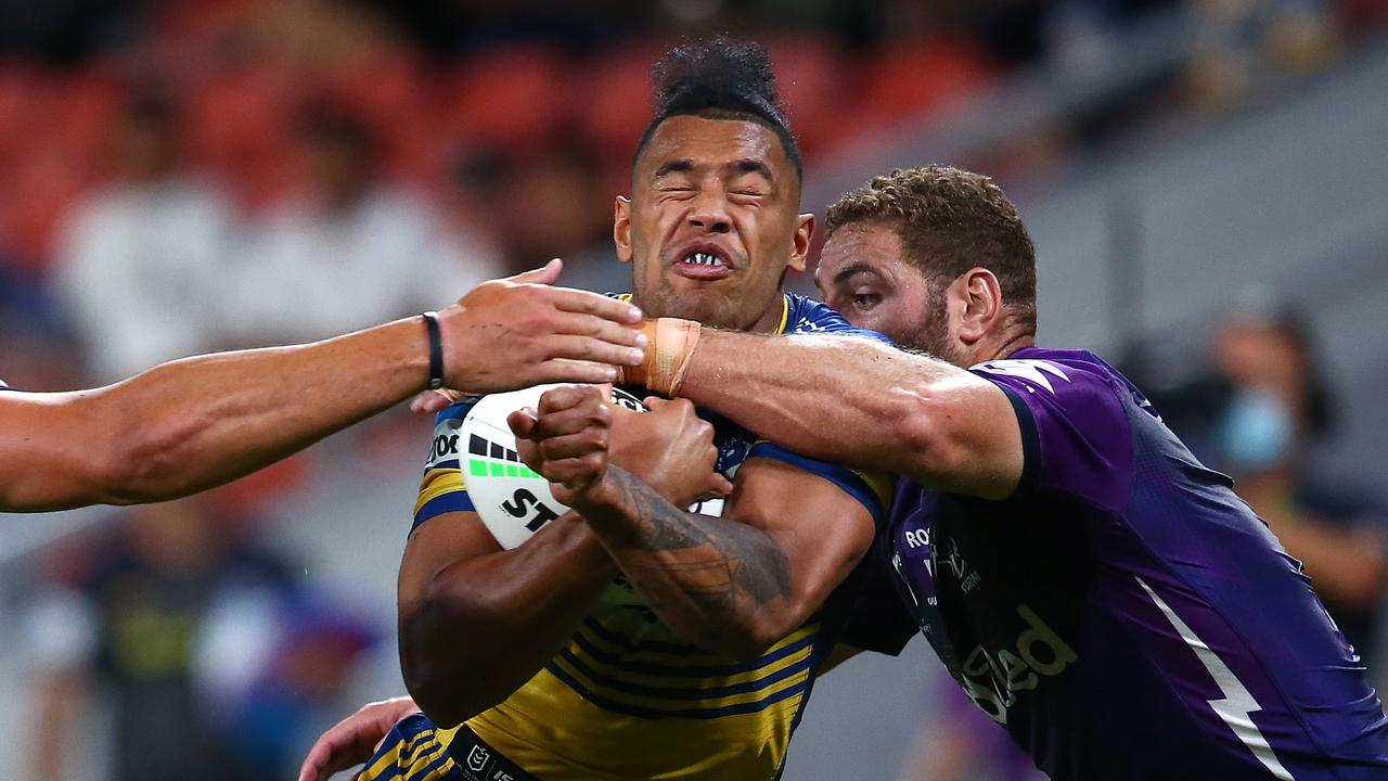 Parramatta centre Waqa Blake has come under fire recently for his defensive reads.