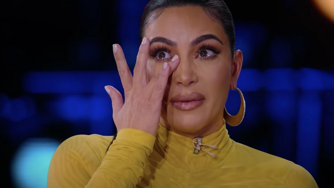 Kim gets teary.