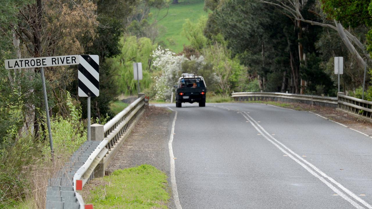 Jarrad Lovison was last seen at the La Trobe River bridge on Moe-Walhalla Road, about 3km north of Moe. Picture: NCA NewsWire / Andrew Henshaw