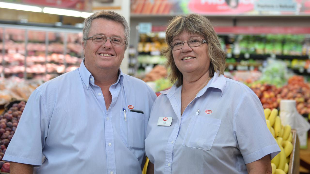 A HUB OF ACTIVITY: Bruce and Deb Mahoney owners of the Childers IGA love the vibrant community in Childers.