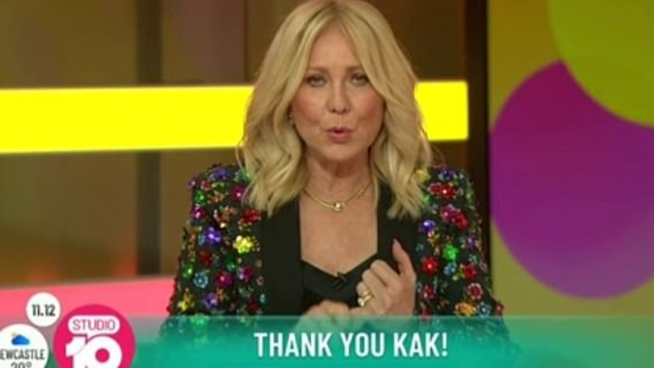 The TV veteran had a tearful goodbye on Studio 10