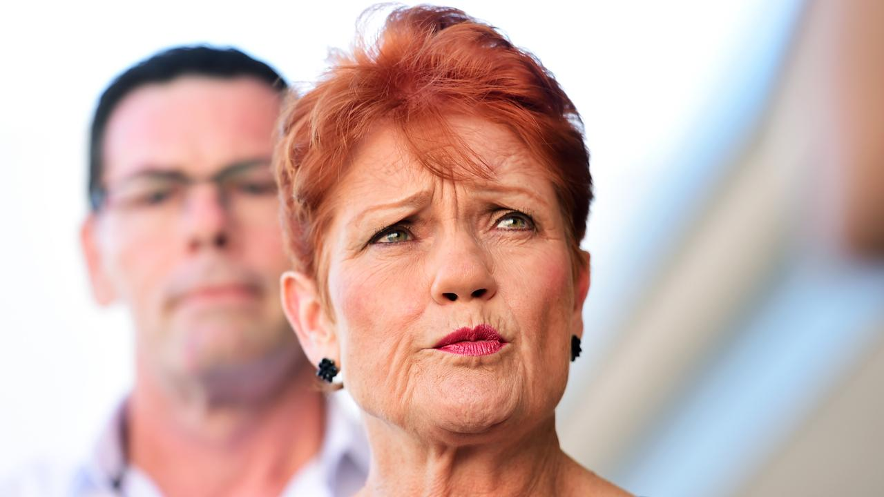 Pauline Hanson says One Nation won't support a Labor minority government. Picture: Alix Sweeney