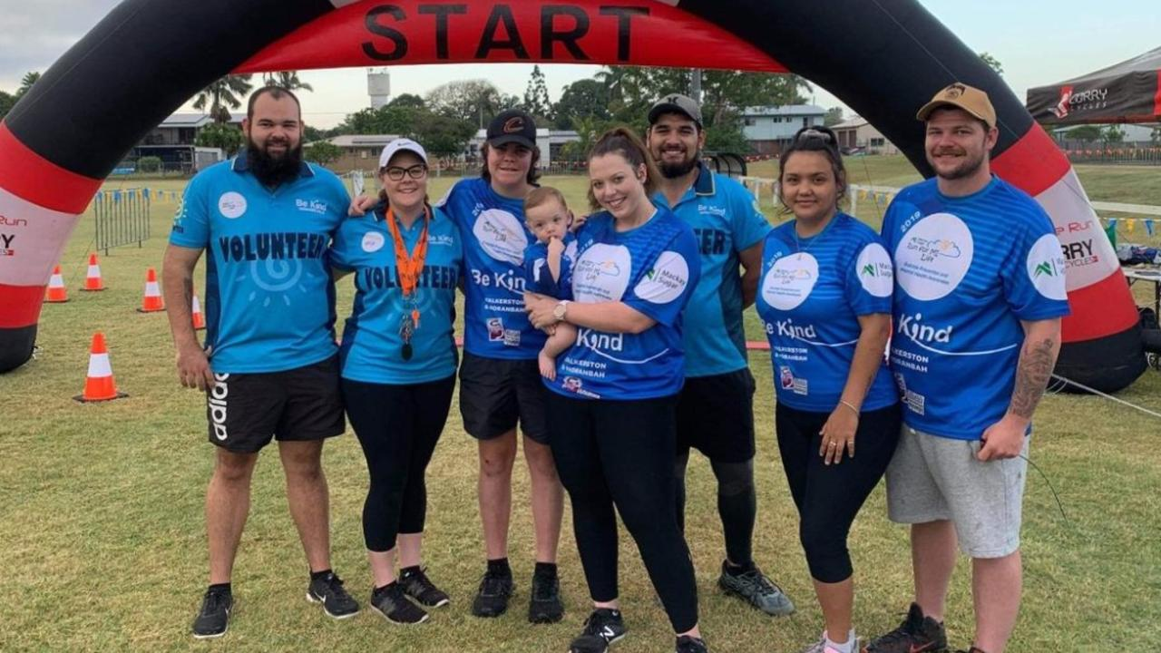 Tom Ryan, Tayla Shanks, Patrick Shanks, Isaac Ward, 9 months, Shea Ward, Ray Ward, Tanika Skinner and Alex Ivory participated in the 2019 Run For MI Life event.