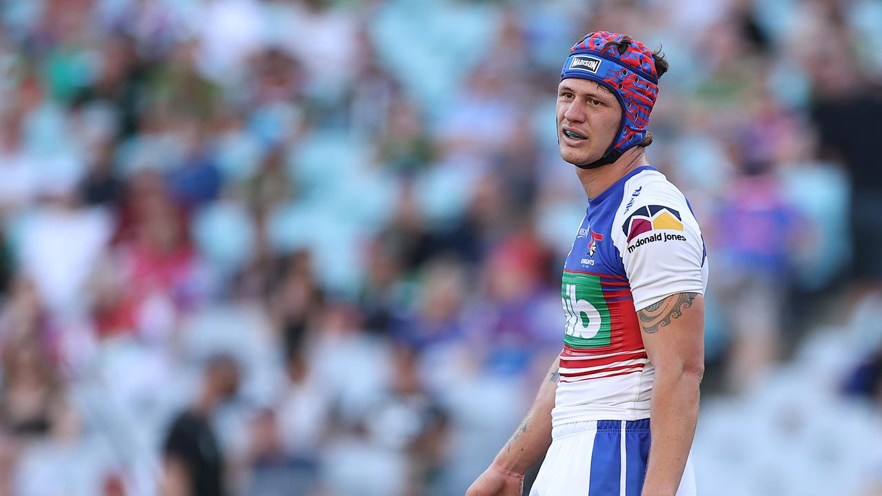 Kalyn Ponga of the Knights looks on during the NRL elimination final
