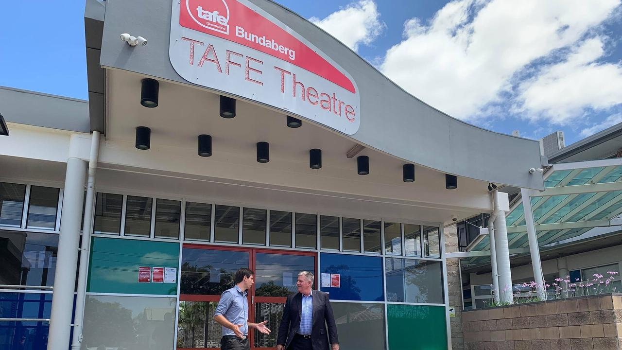 FUNDING ANNOUNCEMENT: Minister for Agricultural Industry Development and Fisheries Mark Furner and Bundaberg Labor candidate Tom Smith at the local TAFE.