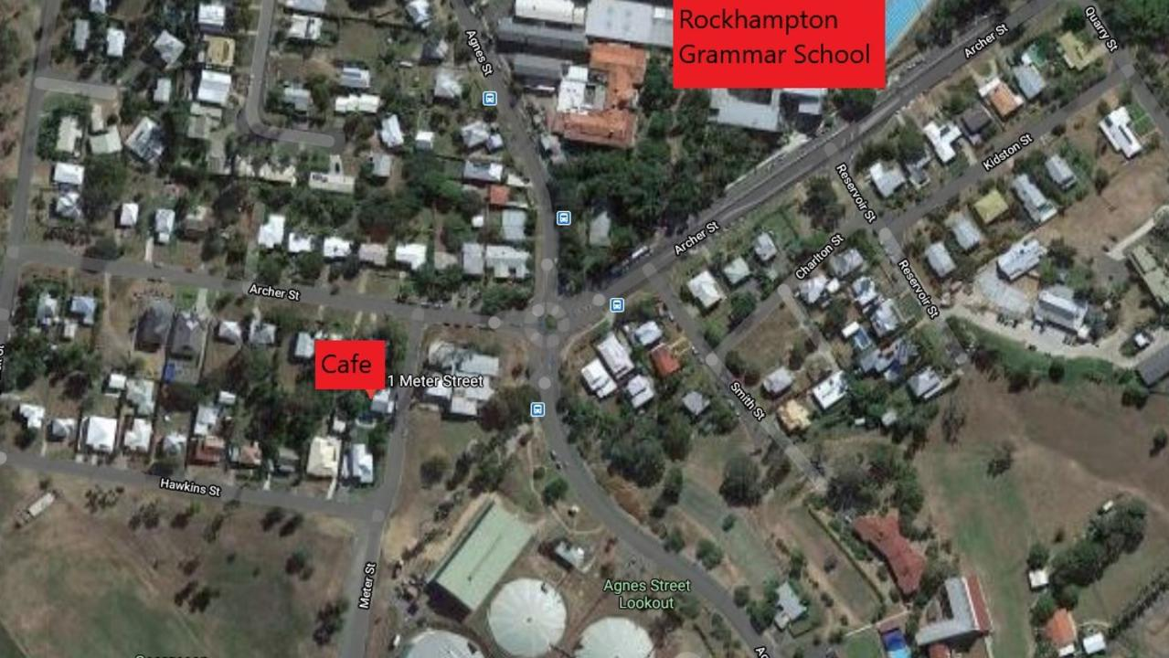 The cafe is located near Agnes St, near Rockhampton Grammar School and the dog park.