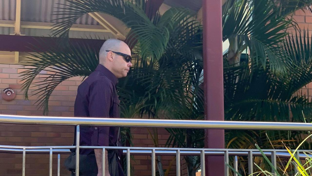 Shawn Victor Leahey leaving the Hervey Bay Courthouse.