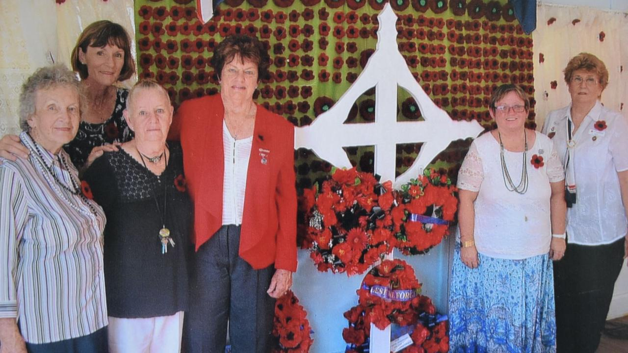 Calen QCWA members (from left): the late Jean Burke, Gail Pratt, (former member), Joyce Williams, Joan Byers, Lindy Blizzard and Betty Kirwan. Picture: Contributed