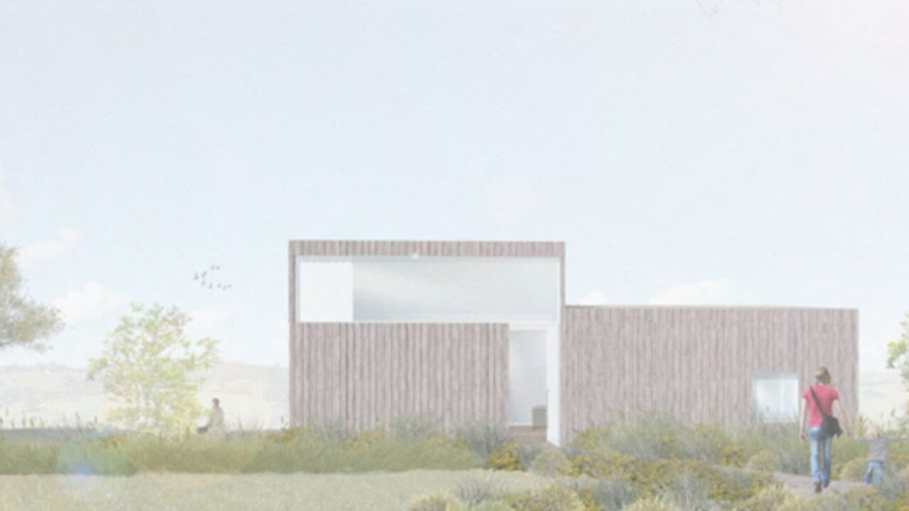 An artist's impression of the north elevation of one of the six tourist cabins proposed.