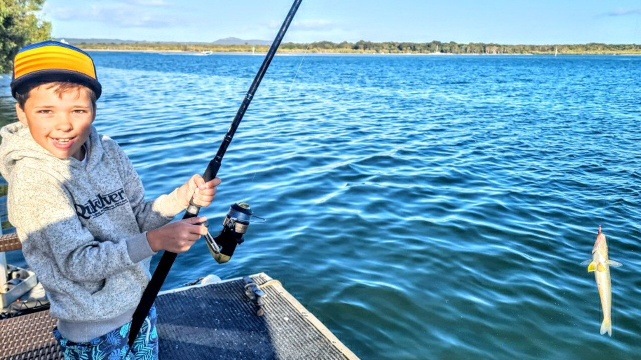 PIC OF THE WEEK: Young Brax Maxwell shows off a lovely whiting he caught holidaying with the family in Noosa Picture: Scott Maxwell