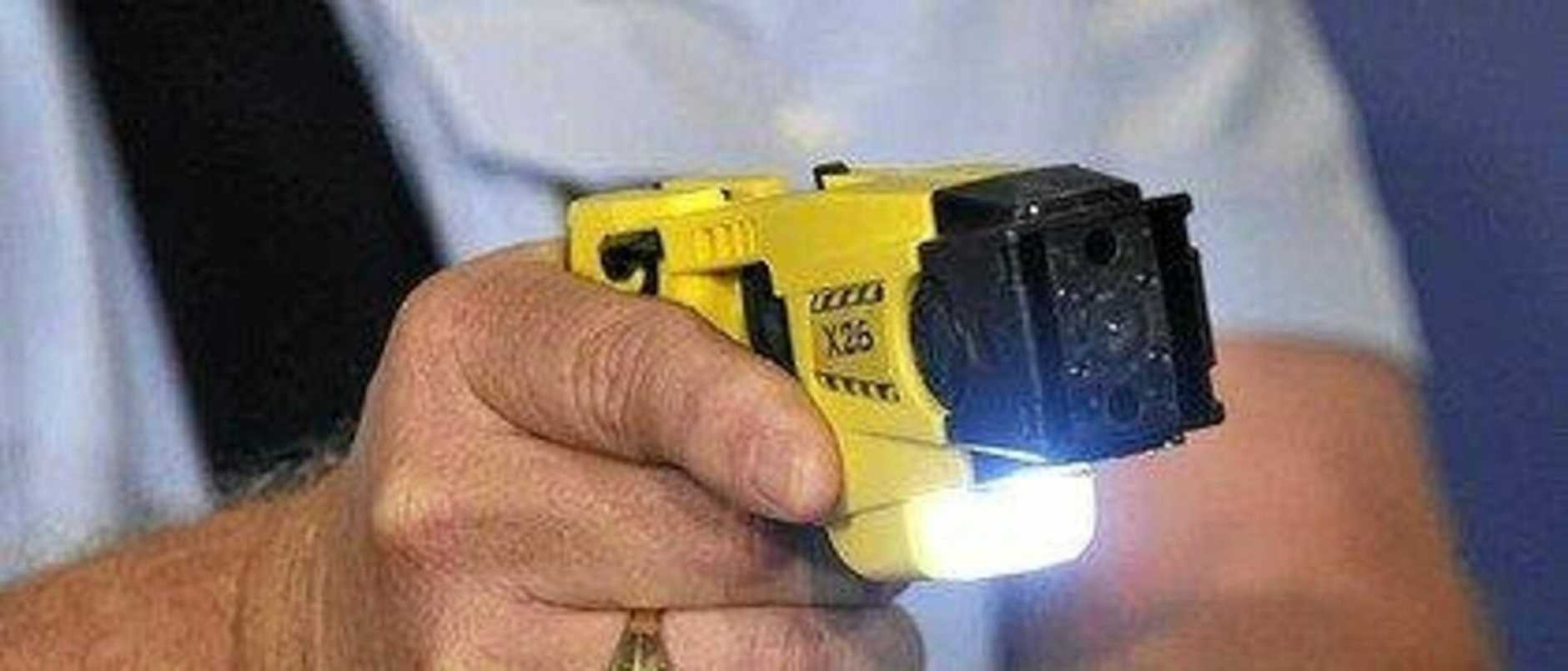 Police were forced to use their taser on a 24-year-old Bonalbo man.