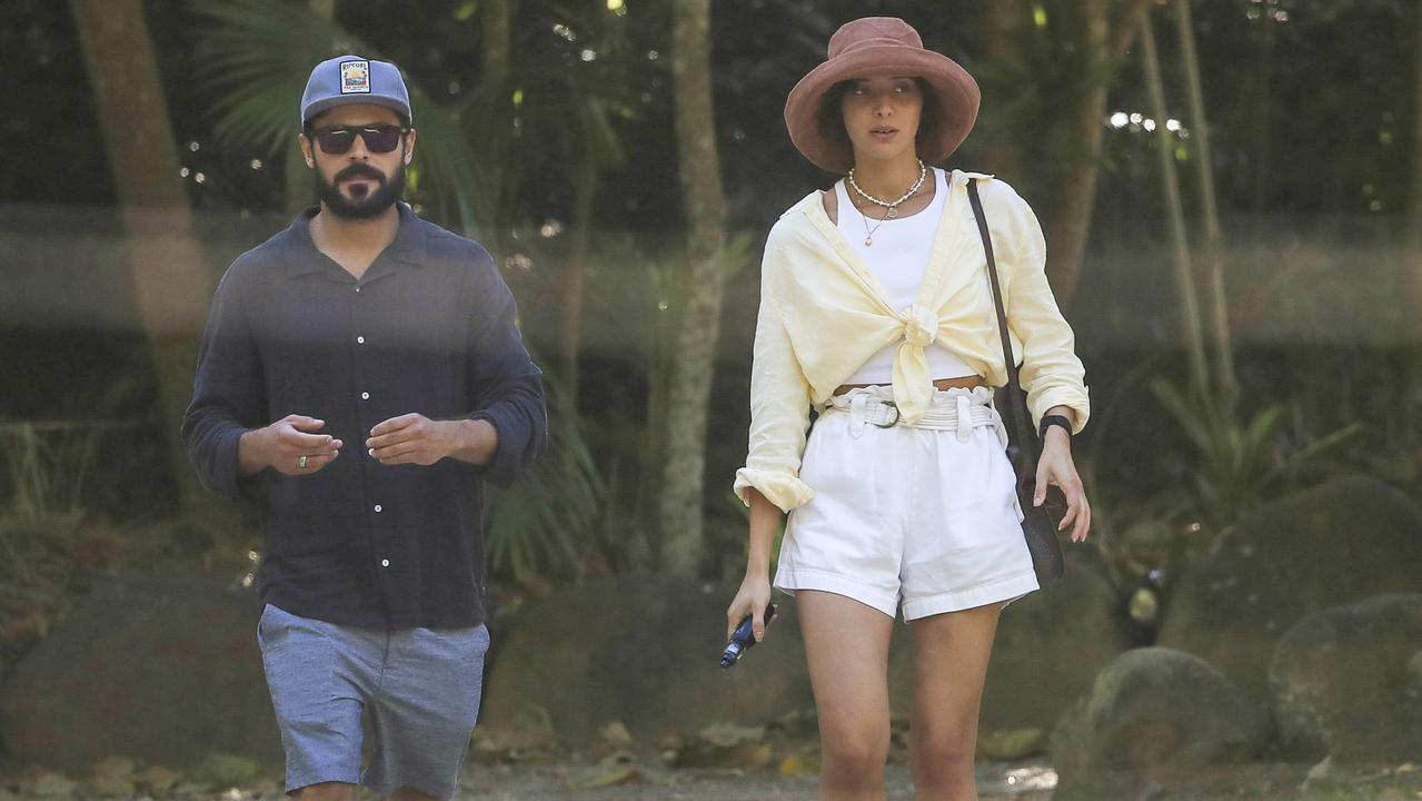 Zac Efron and Aussie girlfriend Vanessa Valladares enjoyed a long lunch at Tweed Valley organic destination restaurant, Mavis's Kitchen, in Uki. Picture: MEDIA-MODE.COM