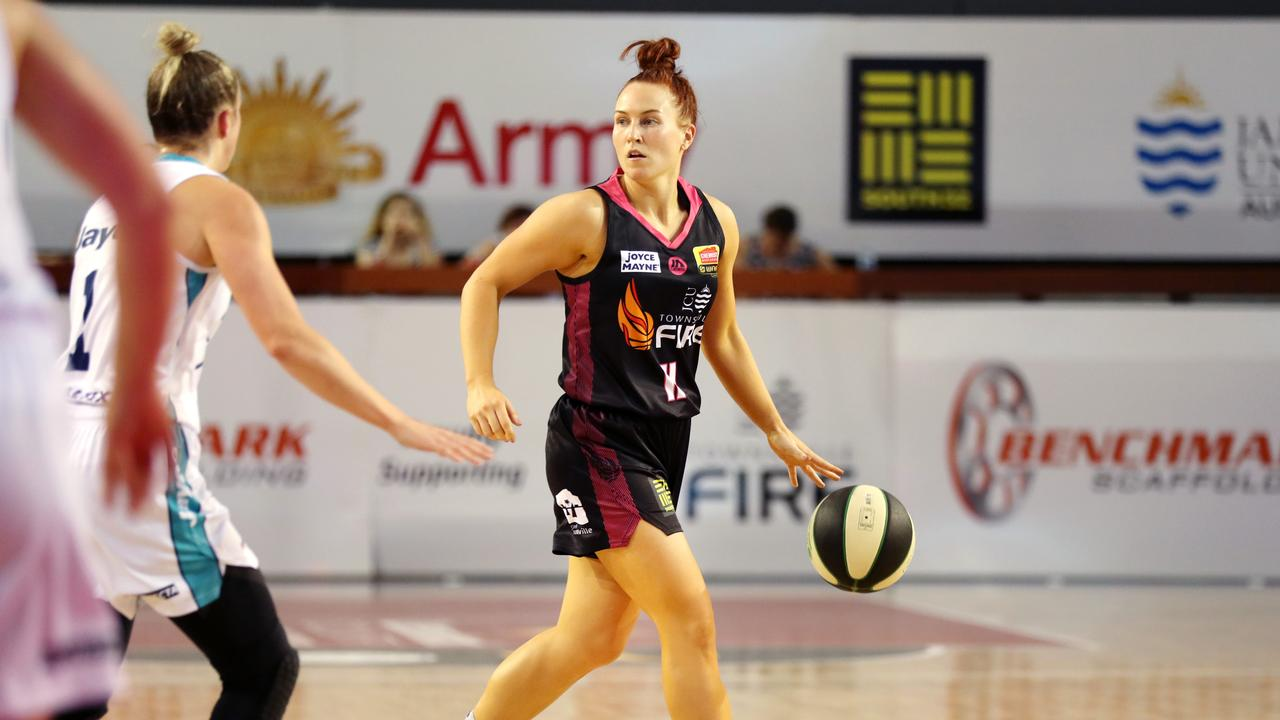 The WNBL seasons will be played in North Queensland, with 32 games to be played in Townsville. Picture is Townsville Fire star Kate Gaze. Picture: Alix Sweeney
