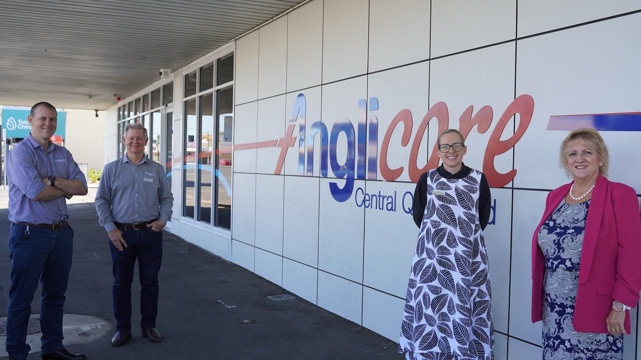 Anglicare CQ's Adam Klaproth and Leigh Tiegs, along with Anglicare CQ CEO Carol Godwin and Capricornia MP Michelle Landry.