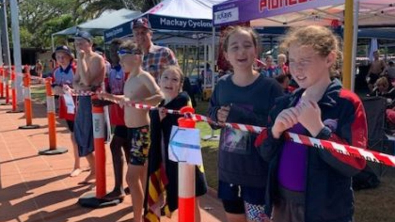 Pioneer Swimming Club members at the first club meet of the 2020-21 swim season at the weekend.