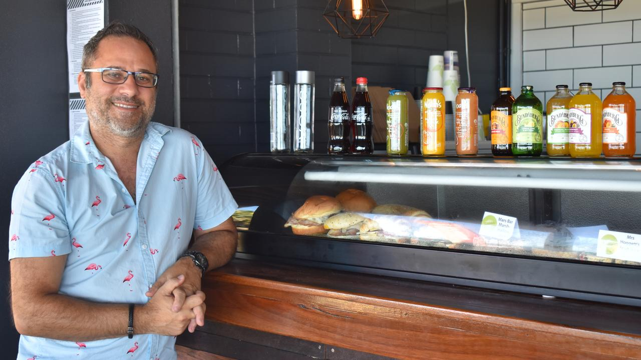 NEW MILL: Joey Caruana from the Windmill Cafe has opened his new venture, the Beach Mill Cafe at the Bundaberg Surf Life Saving Club. Picture: Rhylea Millar.