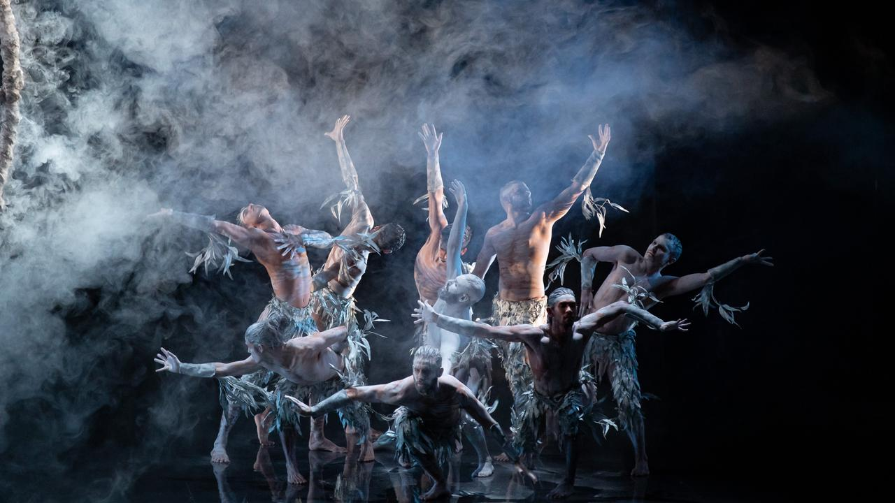 Bangarra Dance Theatre performing Bennelong in an mage from the documentary Firestarter – The Story of Bangarra.
