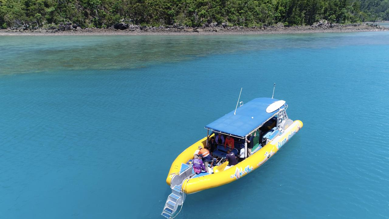 Water samples are being taken from two sites in the Whitsundays. Picture: Reef Catchments