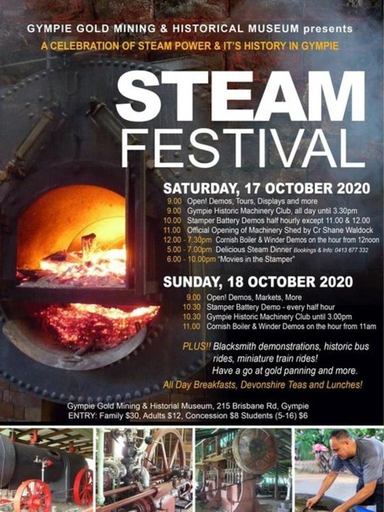 Gympie Steam Festival details.