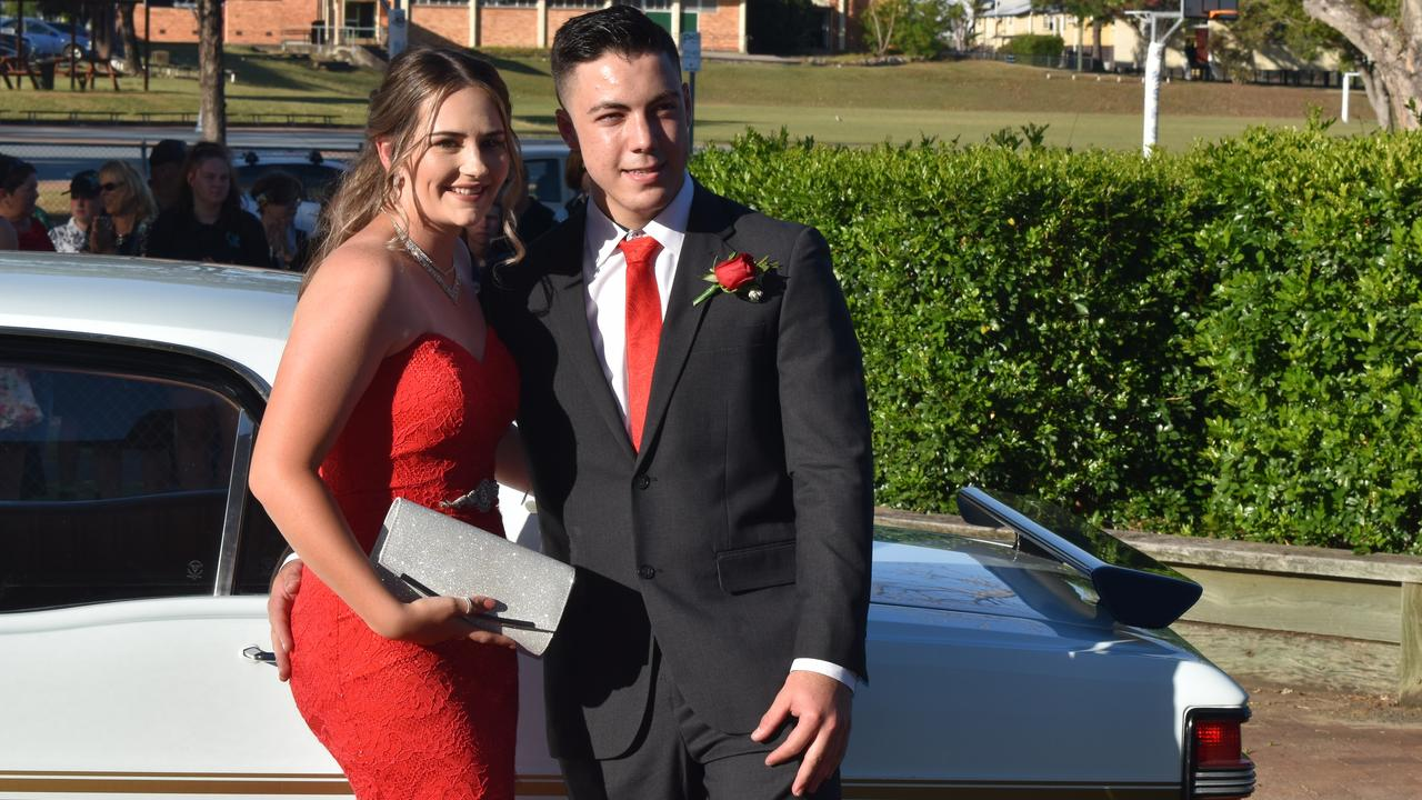 Elley Haines and Harrison Browning arriving at the formal.