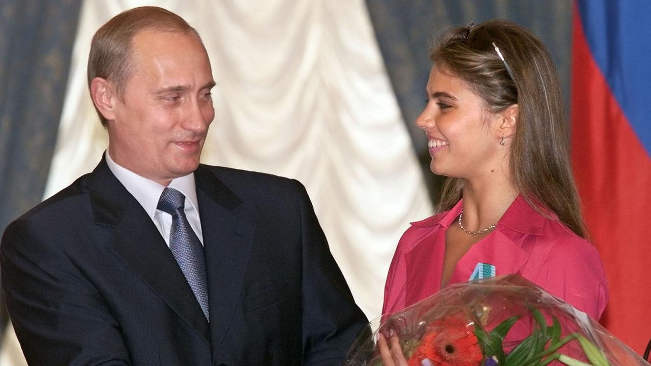 Russian President Vladimir Putin and Alina Kabaeva are alleged to have had an affair. Picture: AP Photo/ Sergei Chirikov