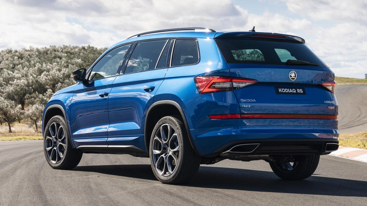 Strong safety credentials are standard in Skoda's sporty Kodiaq RS.
