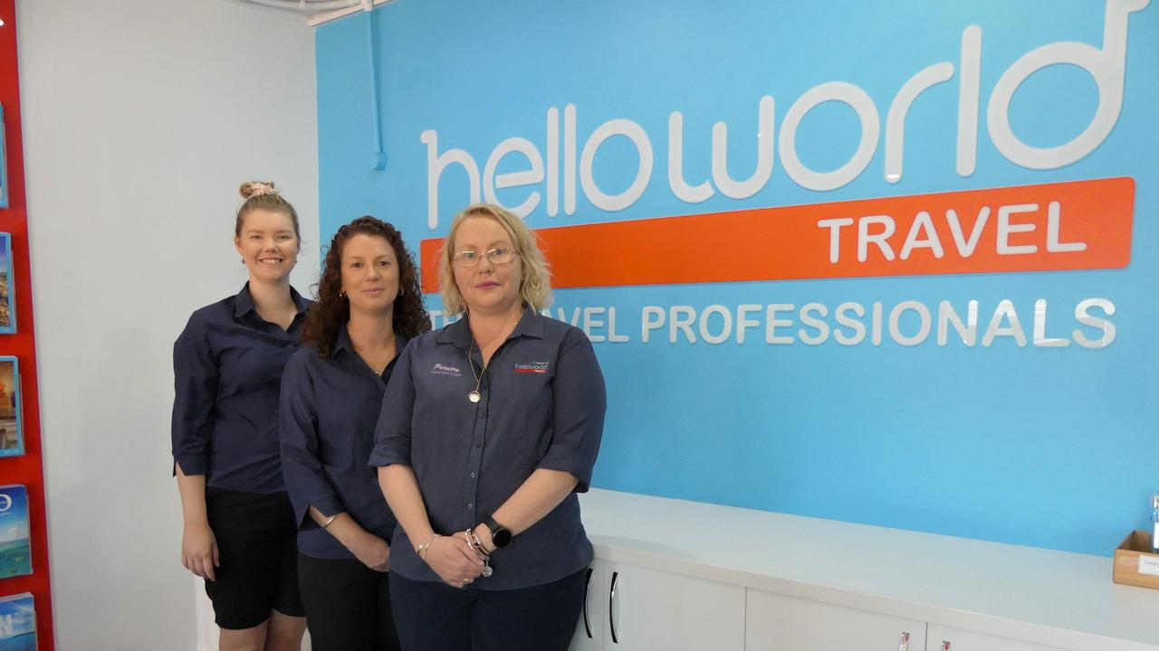 Felicity Dascombe and the Hello World Kingaroy team are encouraging holidaymakers to support local businesses. Photo/Holly Cormack.