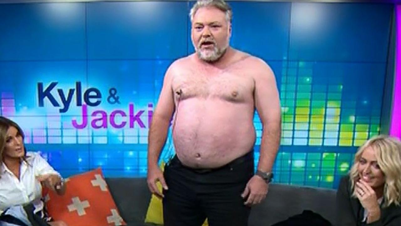 Radio shock jock Kyle Sandilands responds to rumours of him buying a Noosa nudist retreat. Picture: Channel 7