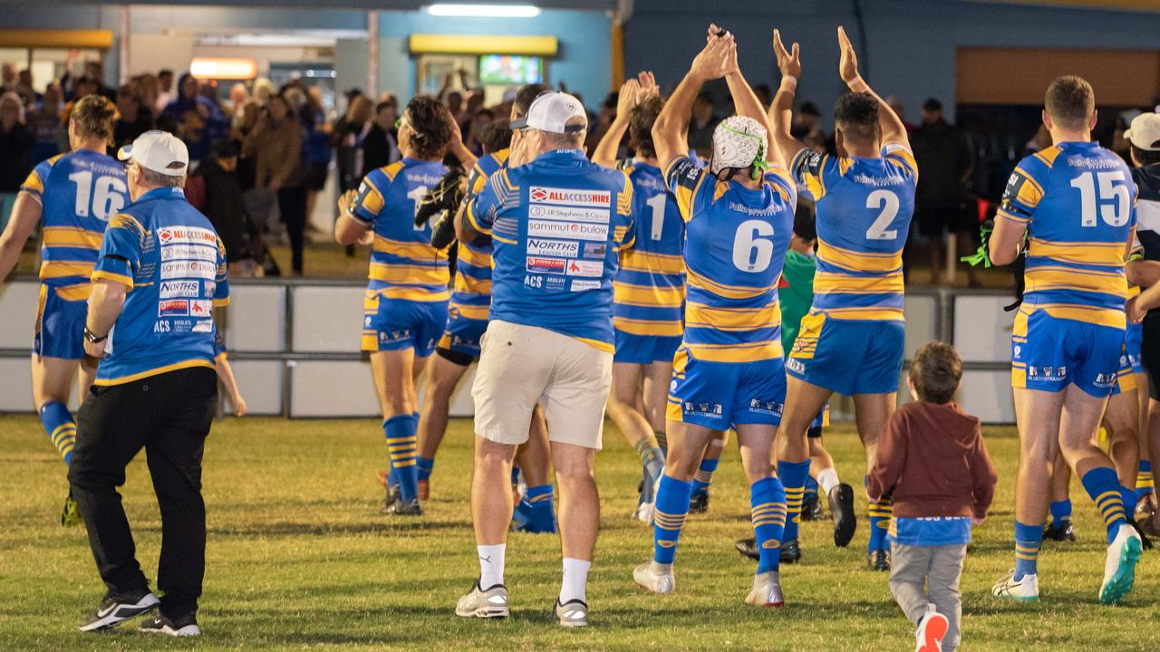 Norths players and fans are hoping to have plenty to celebrate by producing another giant-killing performance in Saturday's Volunteers Cup semi-final. Picture: Bruce Clayton