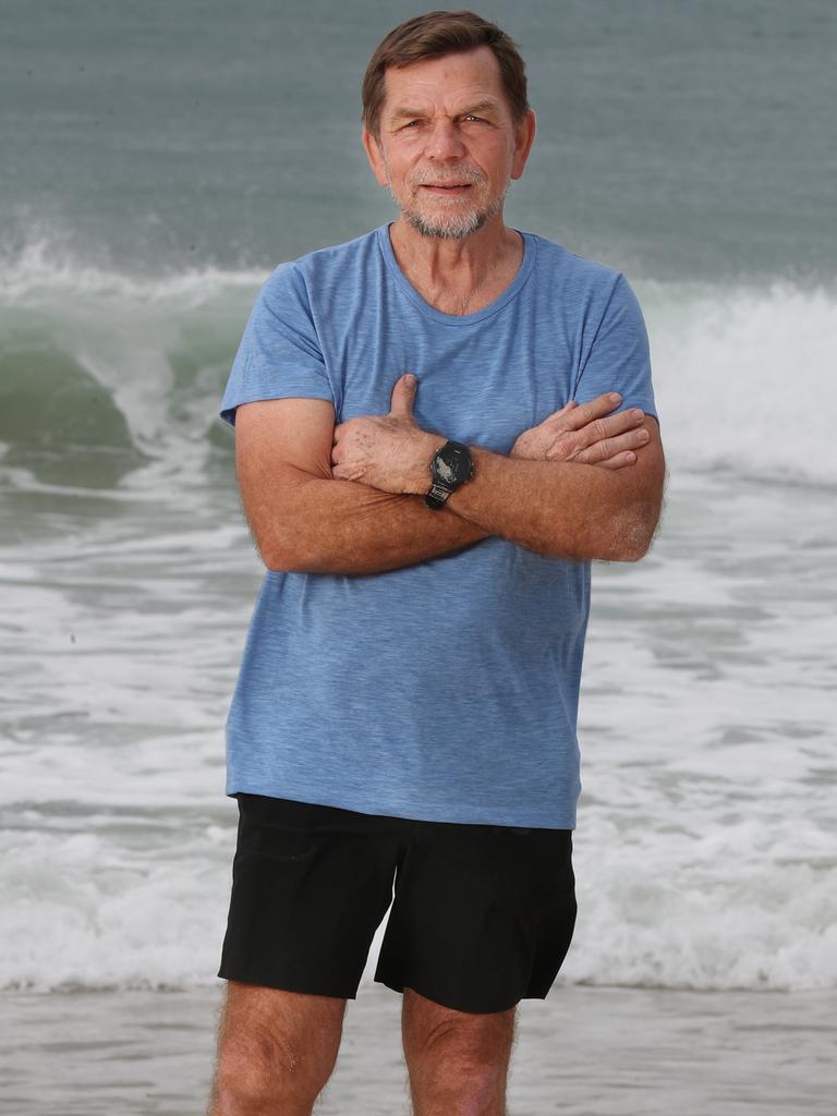 Skroo Turner at Noosa Beach. Pic Annette Dew