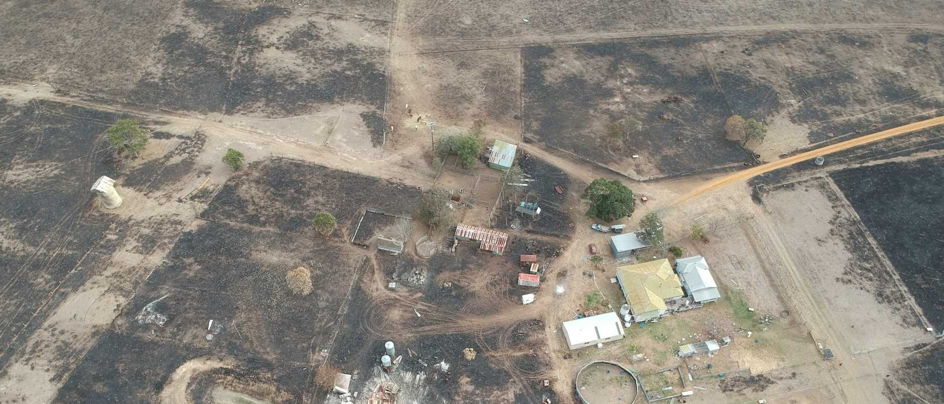 Model aircraft sparked a fire that destroyed parts of a property west of Ipswich.