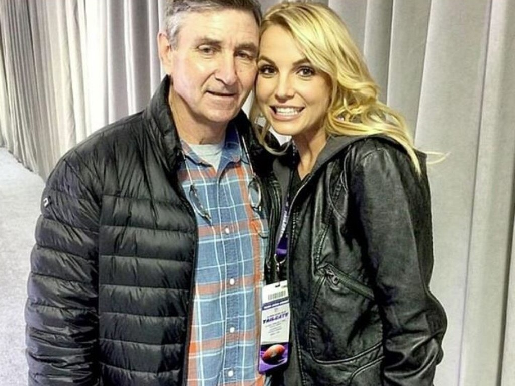 Britney Spears with dad Jamie.  Image: supplied.