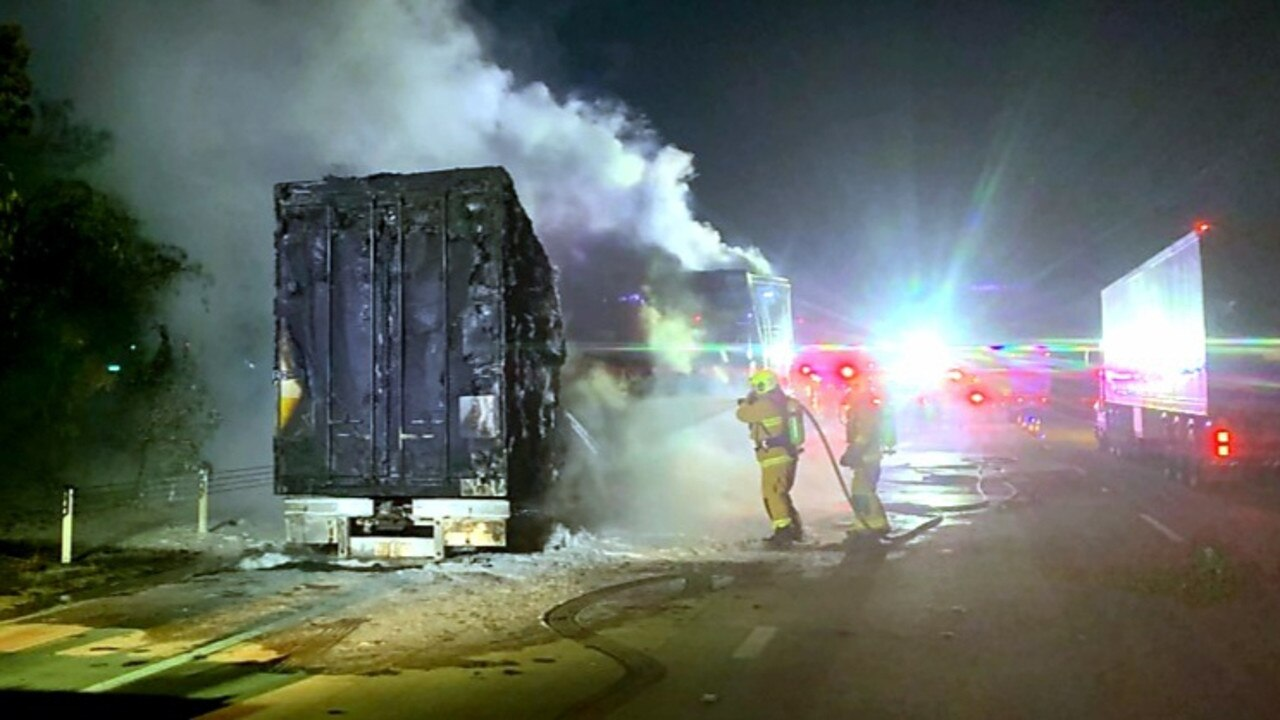 A B-double truck fire has caused traffic delays south of Coffs.
